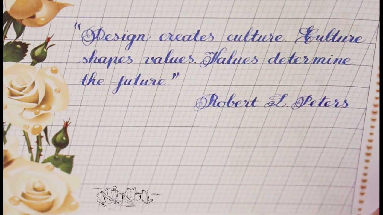 Copperplate Handwriting