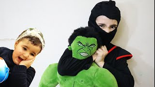 Celina and Hasouna VS HULK - سيلينا وحسونة ضد هالك