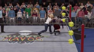 WWE 2K17 Buffy Summers vs. Cassie Hack - Falls Count Anywhere