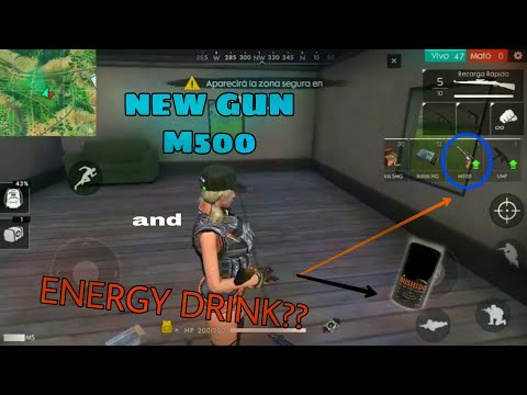 NEW WEPON M500 AND ENERGY DRINK BUSHIDO SNEAKPEEK  FREE FIRE BATTLEGROUNDS