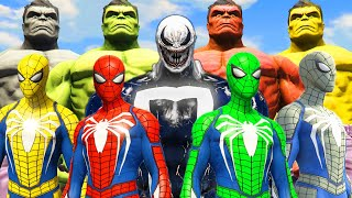 World War Hulk & Spider-Man Universe | Red Hulk & Grey Hulk & Green Spider-Man vs Venom-Ghost