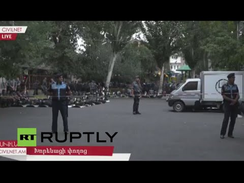 LIVE from Yerevan as police station siege continues