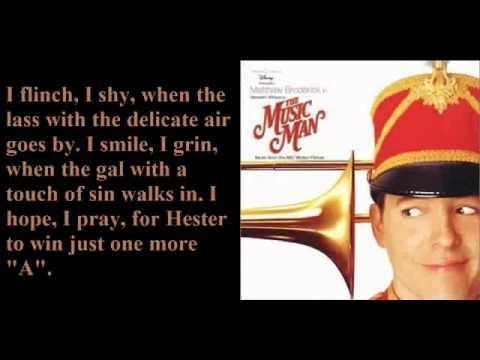 Sadder-But-Wiser Girl For Me-The Music Man