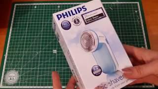 Машинка для удаления катышков Philips GC026/00 Распаковка, обзор и тест