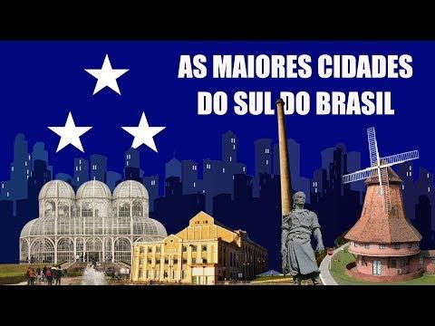 As maiores cidades do SUL do Brasil.