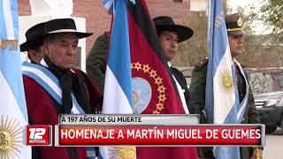 Homenaje a Martín Miguel de Güemes.