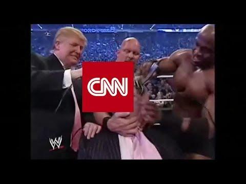 Trump Shaves CNN Bald