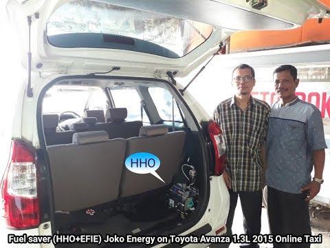 Fuel saver (HHO+EFIE) Joko Energy on Toyota Grand Avanza 1.3L 2015 Taxi Online