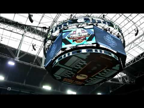 A look at the Final Four setup inside University of Phoenix Stadium