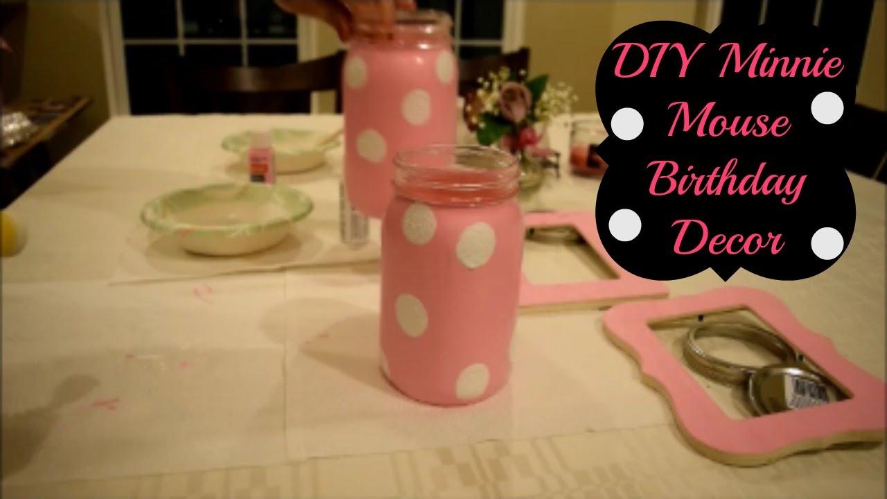 Diy Minnie Mouse Theme Birthday Decor Youtube