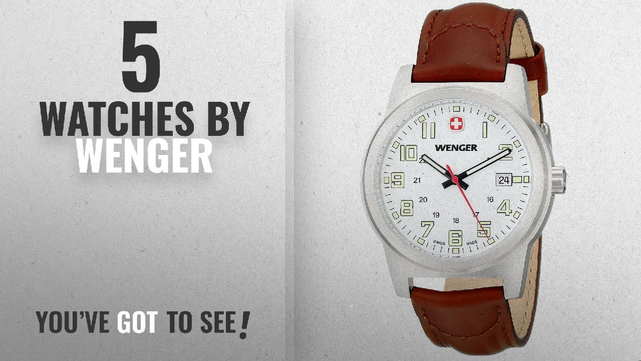 5795beb0b67 Top 10 Wenger Watches  2018   Wenger Field Classic White Dial ...