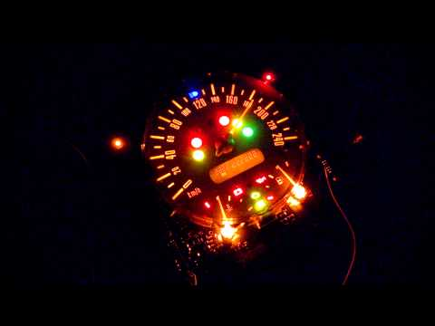 Mini Cooper R50 R53 instrument cluster test on table