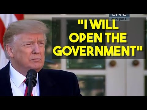 Trump Says He Will Open The Government
