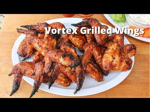 Vortex Grilled Chicken Wings | Chicken Wings Grilled On Weber Kettle with Vortex