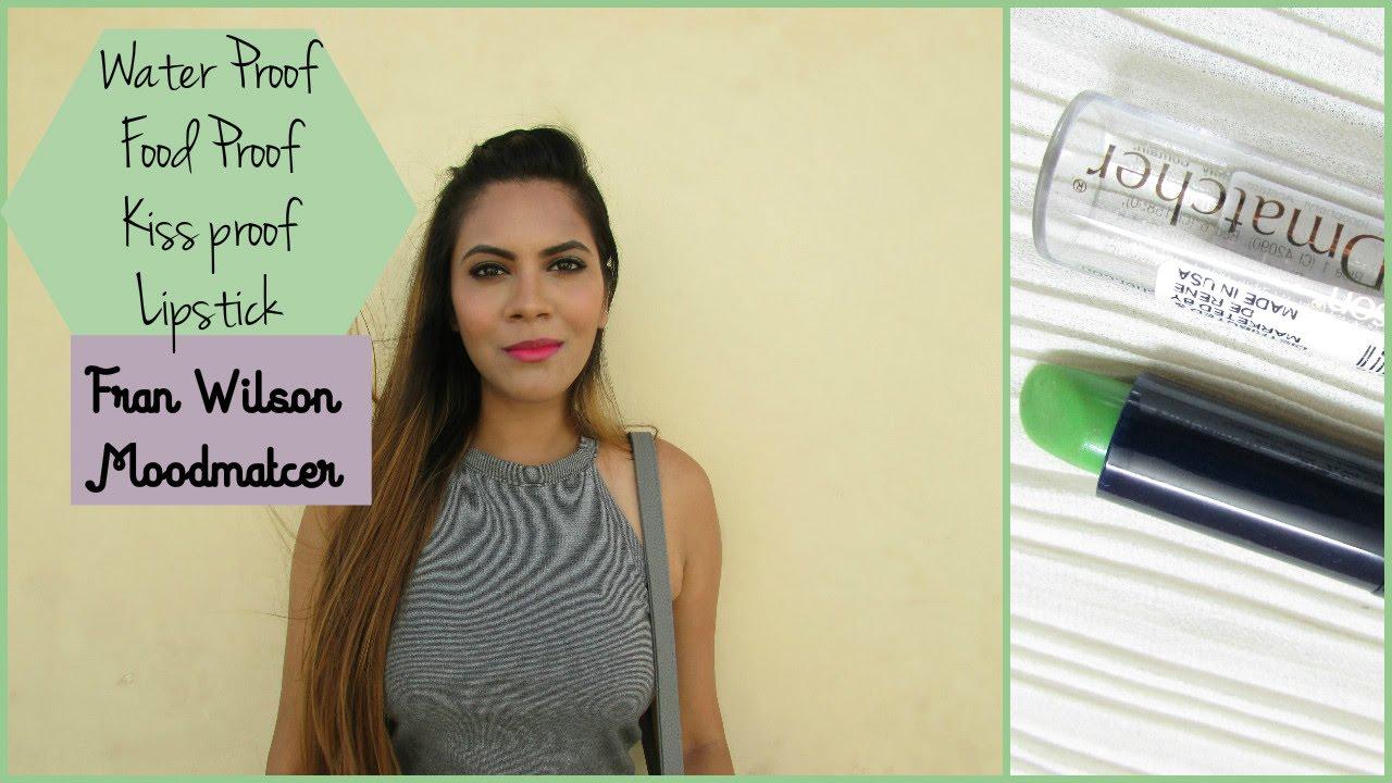Fran Wilson Moodmatcher Lipstick Water Proof Food Kiss Orange Youtube
