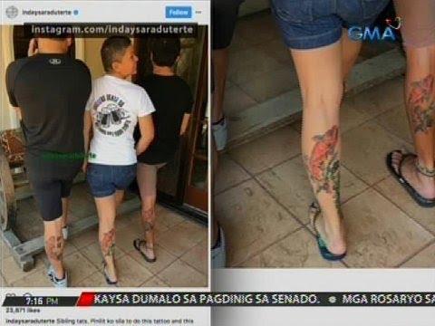Mayor Sara Duterte at iba pang personalidad, may tattoo post na tila patama kay Sen. Trillanes