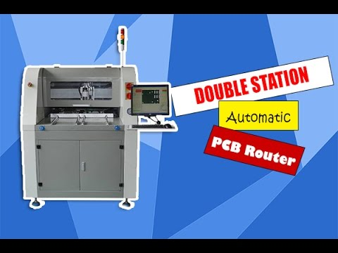 AUTOMATIC DOUBLE STATION PCB ROUTER