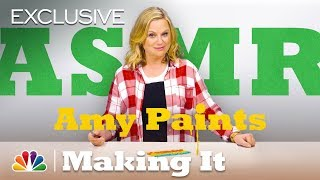ASMR: Amy Poehler Swirls Different Colors of Paint - Making It