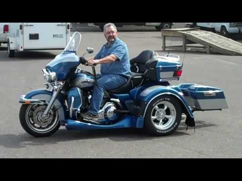 Tom's Harley  Ultra Classic Trike Conversion Trog w/ Trax
