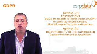 What are controllers responsibilities? Part 12 in our Guide to GDPR in 1 minute bites