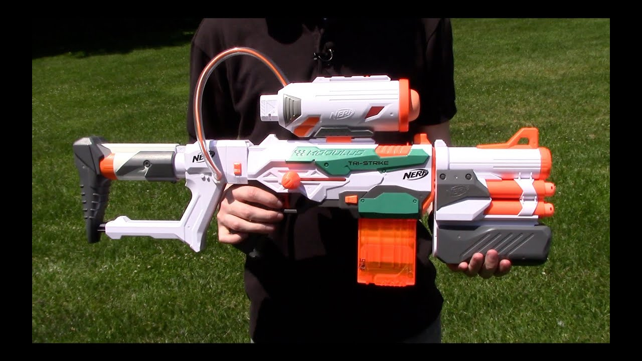 [REVIEW] Nerf N-Strike Modulus ECS-10 Unboxing, Review ...