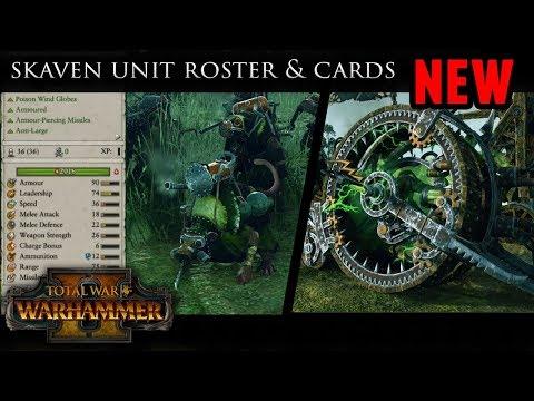 Total War: Warhammer 2 - Skaven Army Roster (Unit Models and Stat Cards)