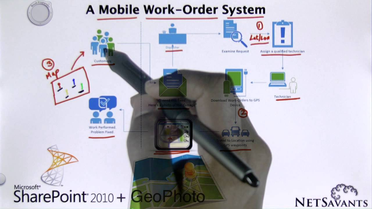 building a mobile work order system using sharepoint mapping