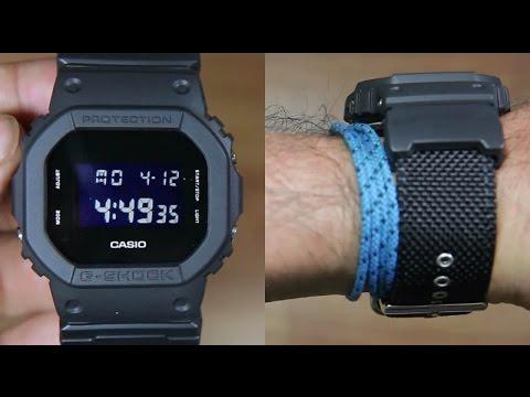 48e207d05edb CASIO G-SHOCK DW-5600BBN-1A CLOTH BAND - UNBOXING - YouTube