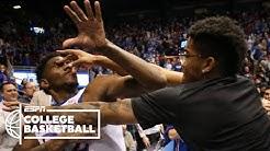 Massive brawl breaks out at end of Kansas-Kansas State | College Basketball on ESPN