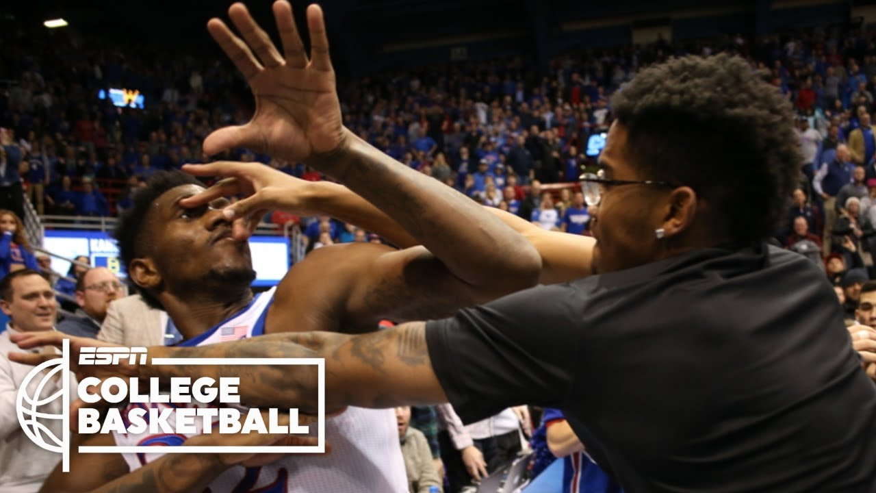 Massive brawl breaks out at end of Kansas State-Kansas basketball ...
