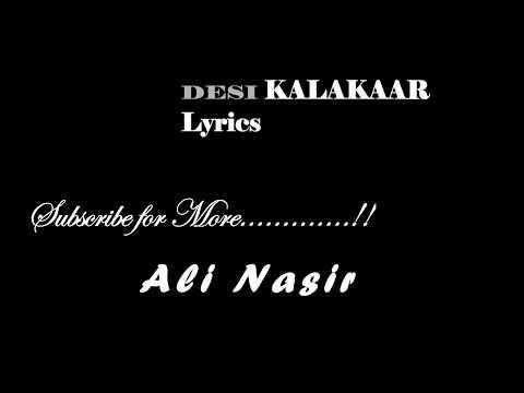 Desi Kalakaar Lyrics