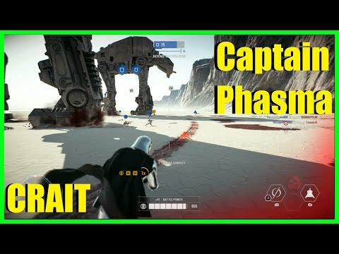 Star Wars Battlefront 2 - Captain Phasma on Crait gameplay! | The Last Jedi free DLC!