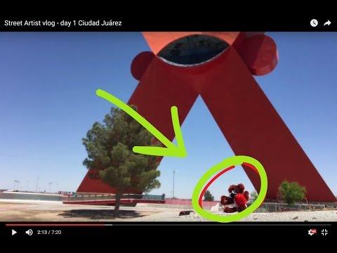 Street Artist vlog - day 1 Ciudad Juárez, La X