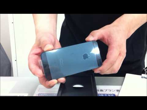 iphone5 unboxing at softbank shop ソフトバンクショップで開封動画 apple