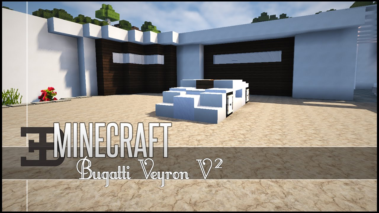 minecraft vehicle tutorial bugatti veyron v2 youtube. Black Bedroom Furniture Sets. Home Design Ideas