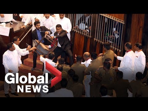 Sri Lanka parliament descends into farce amid political turmoil