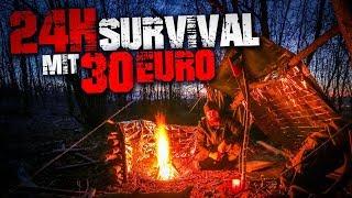24H SURVIVAL CHALLENGE mit 30€ Ausrüstung im Winter überleben | Fritz Meinecke & NITRO