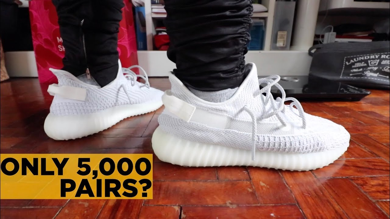 d04a63525 YEEZY 350 BOOST V2 STATIC REFLECTIVE ON-FEET REVIEW - YouTube