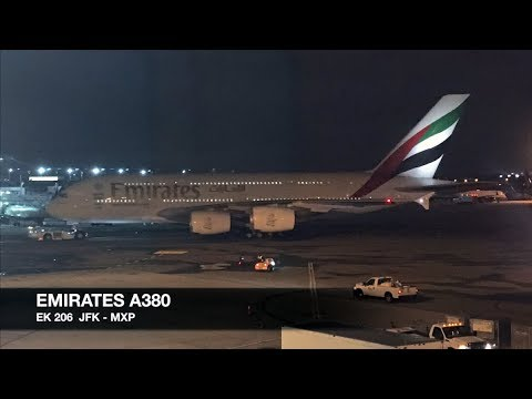 TRIP REPORT | Emirates A380 | New York JFK ✈ Milan MXP | Economy Class