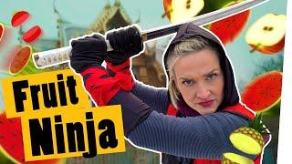 Challenge: Fruit Ninja in Real Life – Wir spielen das Spiel in echt! II Das schaffst du nie!