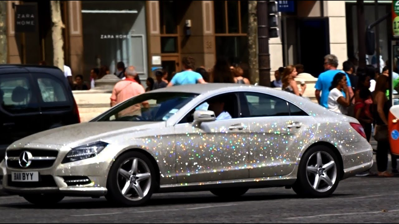 Amazing Mercedes Cls Swarovski Crystals In Paris Youtube