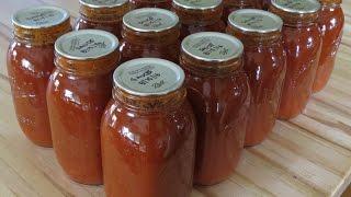 Canning Seasoned Tomato Sauce