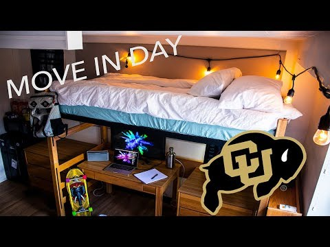 CU BOULDER MOVE IN DAY + DORM TOUR 2018!!(my first day at college)