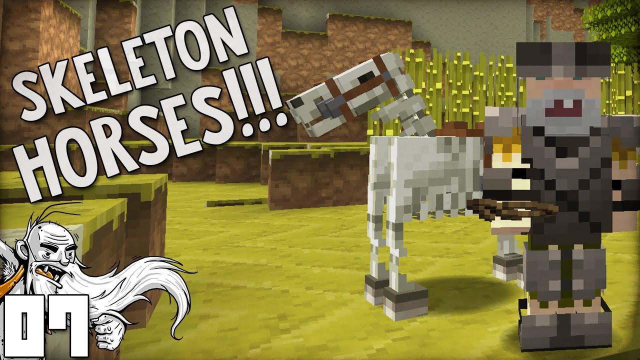 how to get a skeleton horse in vanilla minecraft
