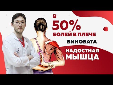 Надостная мышца. 50% болей в плече из за этого!