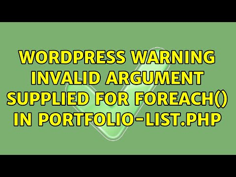 Warning invalid argument supplied for foreach in wordpress