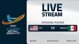 United States v Mexico - U-18 Men's Softball World Cup 2020 - Opening Round