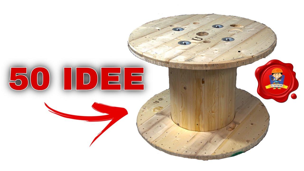 50 Fantastiche Idee Con Bobine In Legno Youtube
