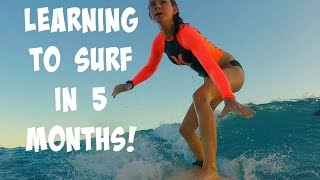 Video LEARNING TO SURF IN 5 MONTHS! download MP3, 3GP, MP4, WEBM, AVI, FLV November 2017