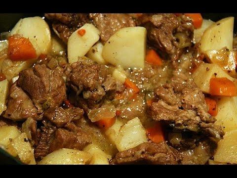 Быстро и вкусно. Мясо с картофелем.